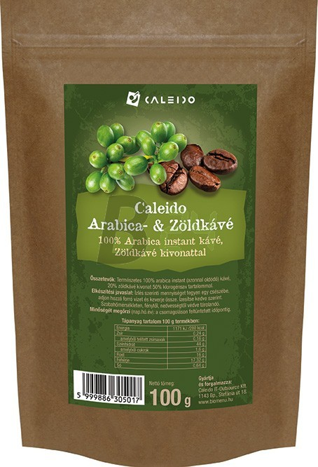 Caleido arabica-zöldkávé 100 g (100 g) ML076384-11-5